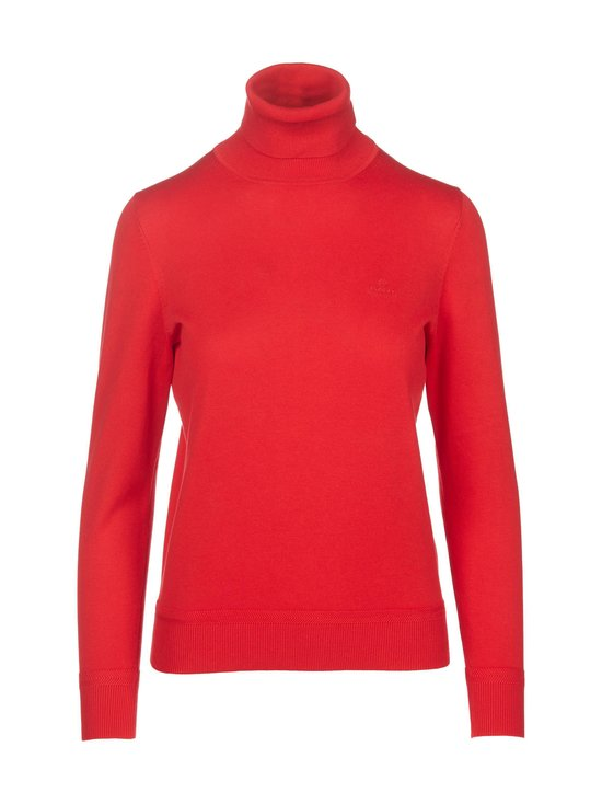 GANT - Puuvillapooloneule - 620 BRIGHT RED | Stockmann - photo 1