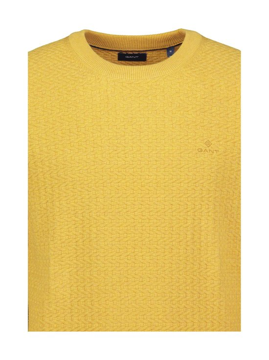 GANT - Cotton Texture Crew -puuvillaneule - 782 IVY GOLD MEL | Stockmann - photo 2