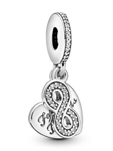 Pandora - Forever Friends Heart Silver Dangle -riipus - SILVER | Stockmann