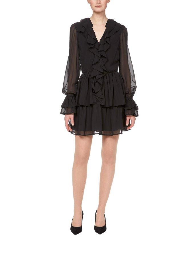 Chiffon Flounce Dress -mekko