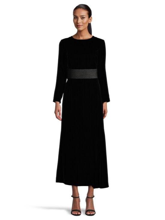 Emporio Armani - Velvet Long Dress -mekko - 0999 BLACK | Stockmann - photo 2