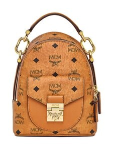 MCM - X-Mini Patricia Backpack in Visetos -reppu - CO COGNAC | Stockmann
