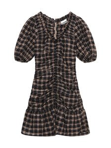 Ganni - Seersucker Check Dress -mekko - FOSSIL | Stockmann