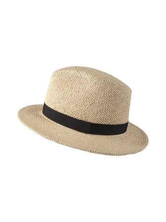 Timothy Straw Fedora hat
