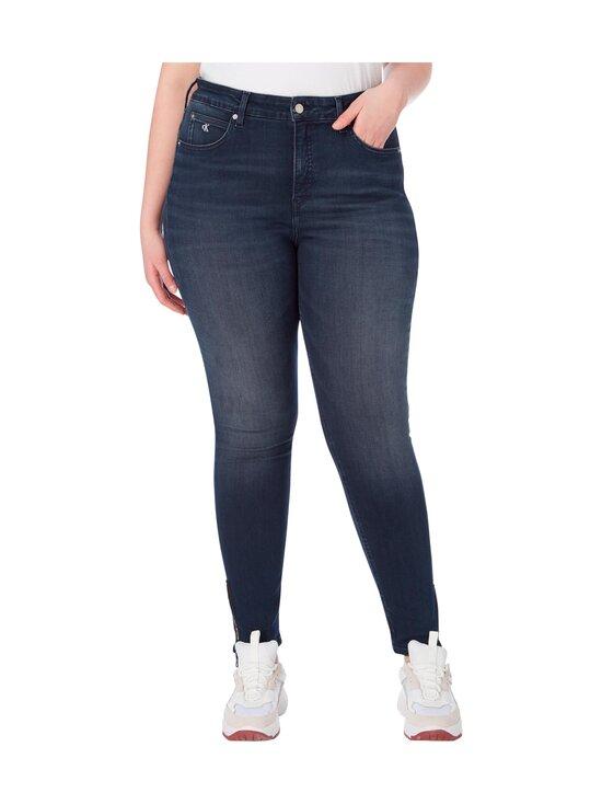 Calvin Klein Jeans Plus - Plus Size High Rise Skinny Ankle Jeans -farkut - 1BJ BB234 - BLUE BLACK LOGO ZIP HEM | Stockmann - photo 3