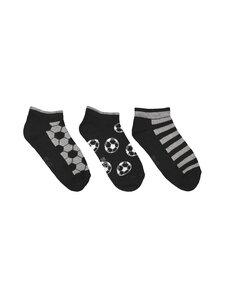 Ewers - Sneaker Football Stripe -sukat 3-pack - 2 GREY, BLACK   Stockmann