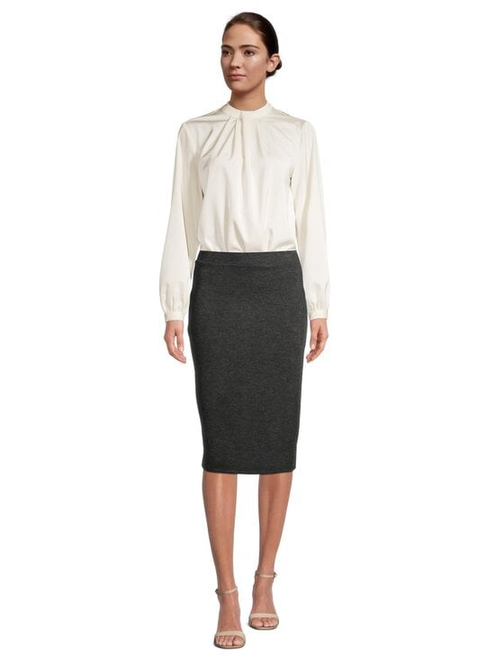 Vila - ViMany Pencil Skirt -hame - DARK GREY MELANGE | Stockmann - photo 2