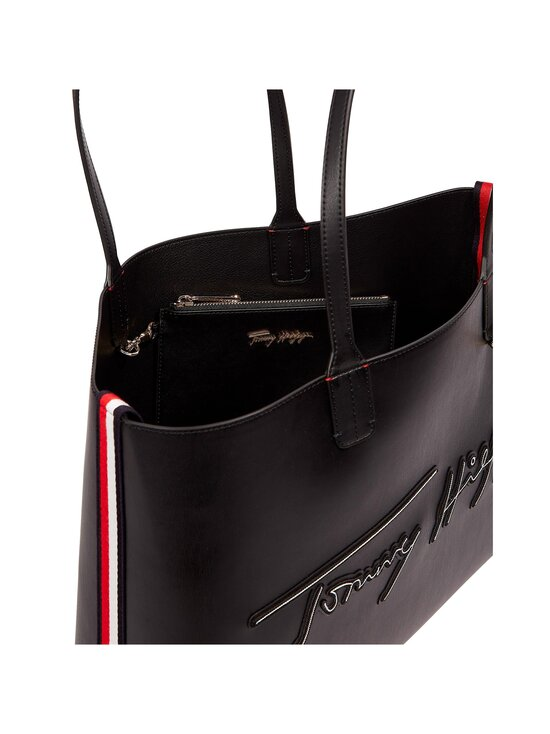 Tommy Hilfiger - Iconic Tommy Tote Signature -laukku - BDS BLACK | Stockmann - photo 3