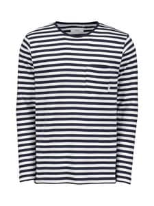 Makia - Verkstad-paita - NAVY/WHITE | Stockmann