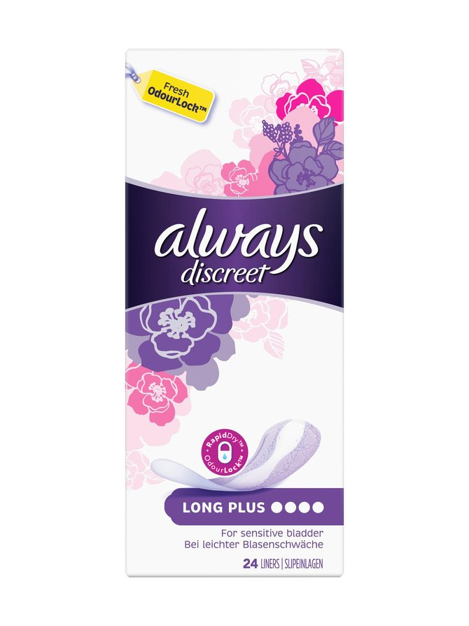 Discreet Long Plus -inkontinenssisuoja 24 kpl