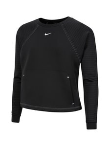 Nike - Lux Dry Fleece -paita - 010 BLACK/METALLIC SILVER   Stockmann