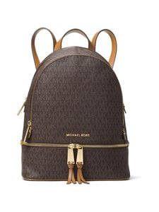 Michael Michael Kors - Rhea Medium Backpack -reppu - BROWN | Stockmann