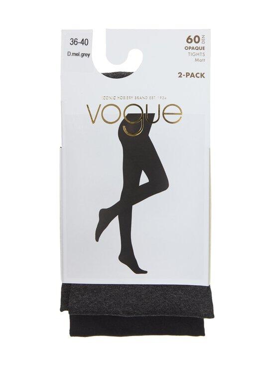 Vogue - Opaque 60 den -sukkahousut 2-pack - 1143 DARK MEL.GREY | Stockmann - photo 1