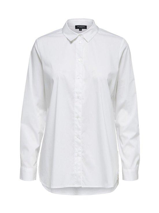 Selected - SlfOri LS Side Zip Shirt -pusero - 11-0601 TCX BRIGHT WHITE | Stockmann - photo 1