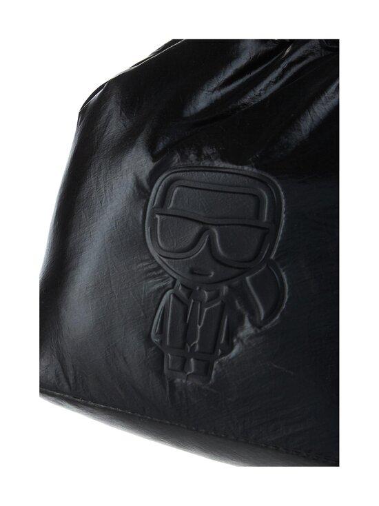 Karl Lagerfeld - K/Ikonik Nylon Bucket Metallic -laukku - 980 MTLLC BLK | Stockmann - photo 3