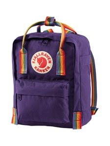 Fjällräven - Kånken Rainbow Mini -reppu - 580-907 PURPLE-RAINBOW PATTERN | Stockmann