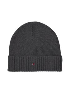 Tommy Hilfiger - Pima Cotton Beanie -puuvillapipo - PA7 CHARCOAL GRAY | Stockmann