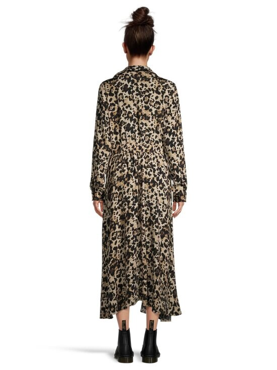 Vila - ViMemis LS Midi Shirt Dress -paitamekko - BLACK AOP:LEO | Stockmann - photo 3