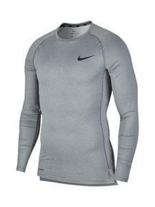 Nike - Pro Tight-Fit Long-Sleeve Top -treenipaita - SMOKE GREY/LT SMOKE GREY/BLACK | Stockmann
