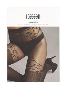 Wolford - Flora 30 den -sukkahousut - 9180 BLACK/BLACK | Stockmann
