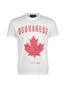 Dsquared - D2 Leaf T-Shirt -paita - 100 WHITE | Stockmann