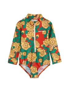 Mini Rodini - Peonies ls Swimsuit -uimapuku - RED | Stockmann