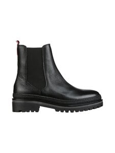 Tommy Hilfiger - Rugged Classic Chelsea Boot -nahkanilkkurit - BDS BLACK | Stockmann