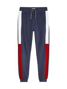 Tommy Jeans - Organic Cotton Jacquard Flag Joggers -collegehousut - CBK BLACK IRIS | Stockmann
