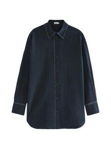 Filippa K - Mandy Cotton Shirt -puuvillapaita - 2830 NAVY | Stockmann