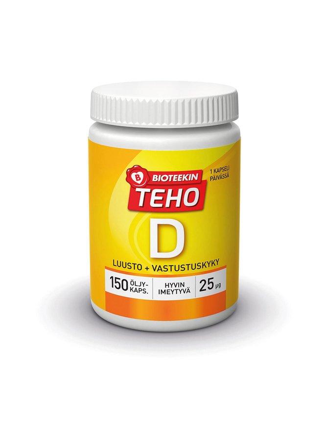 TEHO D 25 µg -ravintolisä 150 kaps.
