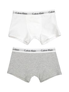 Calvin Klein Kids - Modern Cotton -bokserit 2-pack - WHITE/GREY HEATHER | Stockmann