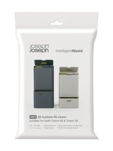Joseph Joseph - IntelligentWaste IW1 Liners -roskapussi 24-36 l, 20 kpl - VALKOINEN   Stockmann