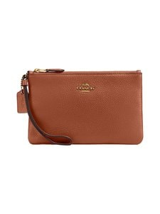 Coach - Boxed Pebbled Small Wristlet -nahkalaukku - GD/1941 SADDLE | Stockmann