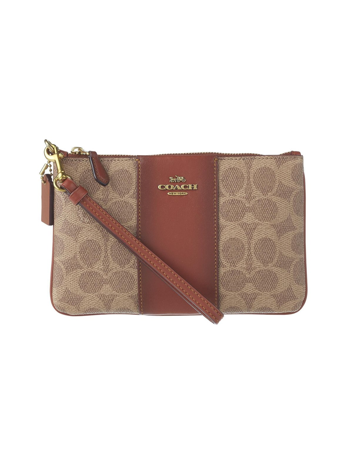 Coach – Small Wristlet Colorblock Coated Canvas -laukku