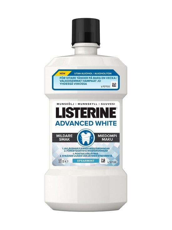Listerine - Advanced White Milder Taste Mouthwash -suuvesi 500 ml - NOCOL   Stockmann - photo 1
