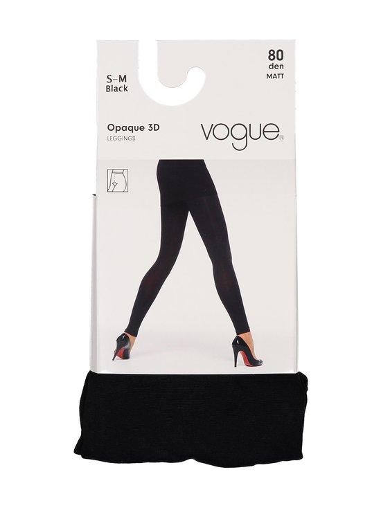 Vogue - Opaque 80 den 3D -leggingsit - MUSTA | Stockmann - photo 1