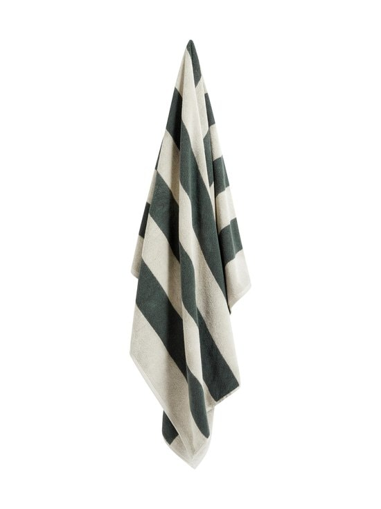 HAY - Frotté Stripe Bath Towel -pyyhe - DARK GREEN | Stockmann - photo 1