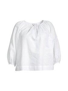 cut & pret PLUS - KIMMY PLUS Gathered woven blouse -pusero - WHITE | Stockmann