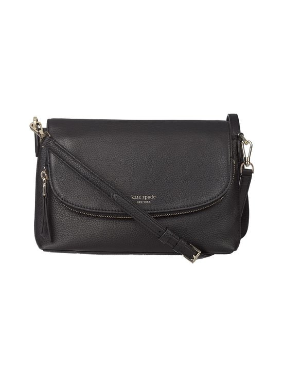 kate spade new york - Polly Large Flap Crossbody -nahkalaukku - BLACK | Stockmann - photo 1