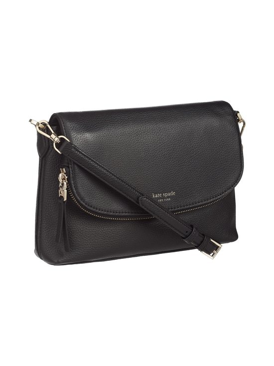kate spade new york - Polly Large Flap Crossbody -nahkalaukku - BLACK | Stockmann - photo 2