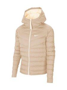 Nike - W Sportswear Windrunner Down-Fill -untuvatakki - 140 OATMEAL/PALE IVORY/WHITE | Stockmann