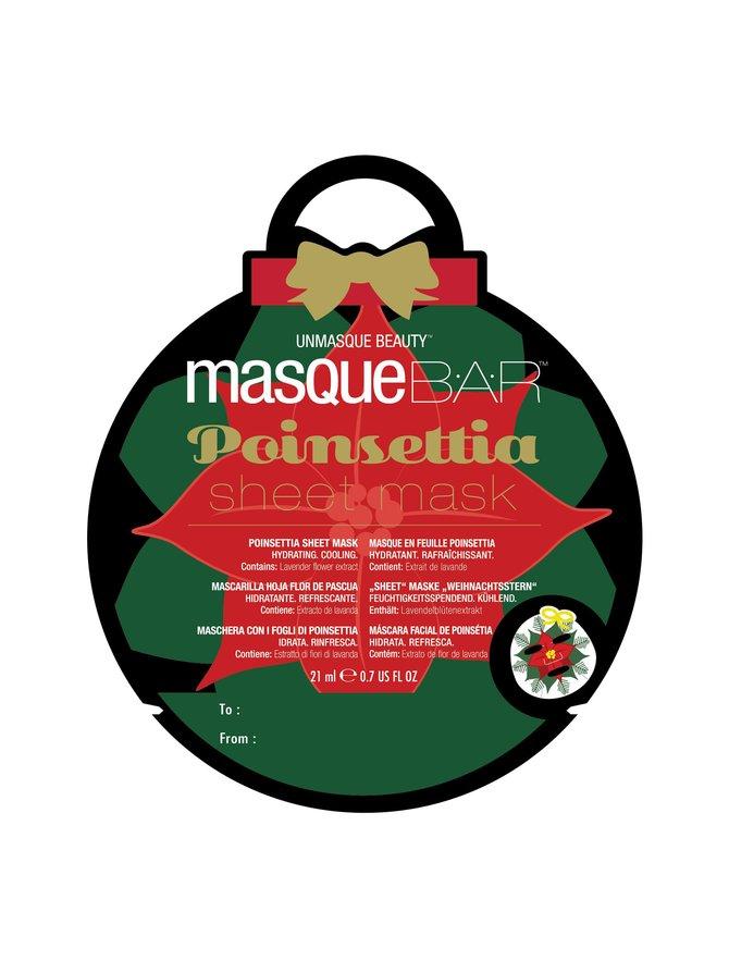 Bar Poinsetta Printed Sheet Mask -kasvonaamio