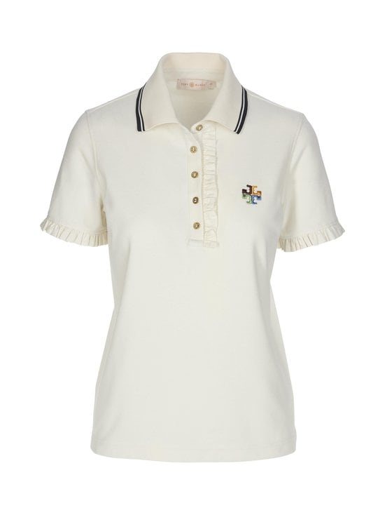 Tory Burch - Ruffle Polo -paita - 104 IVORY | Stockmann - photo 1