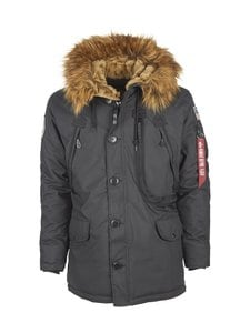 Alpha Industries - Polar Jacket -parkatakki - BLACK (MUSTA) | Stockmann