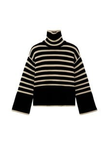 Totême - SIGNATURE STRIPE -pooloneule - BLACK STRIPE | Stockmann