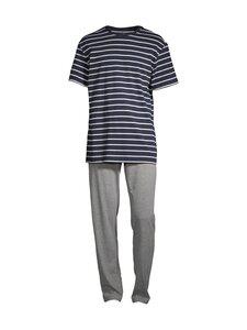 Cap Horn loungewear - DOIVA -pyjama - NAVY-WHITE STRIPED T-SHIRT AND GREY MEL. PYJAMA PANTS   Stockmann
