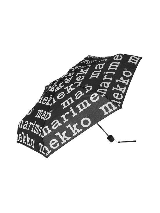 Marimekko - Mini Manual Marilogo -sateenvarjo - 910 BLACK, WHITE | Stockmann - photo 1