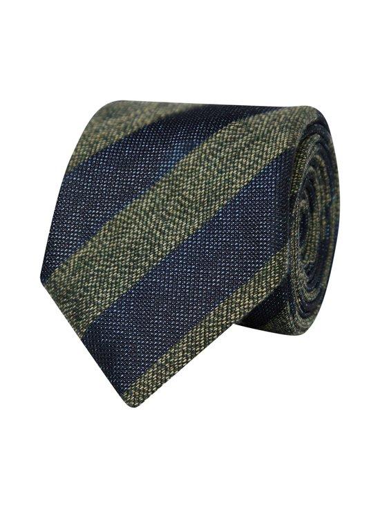 Tommy Hilfiger Tailored - Stripe Cotton Blend -puuvillasekoitesolmio - 0ZU NAVY/GREEN | Stockmann - photo 2