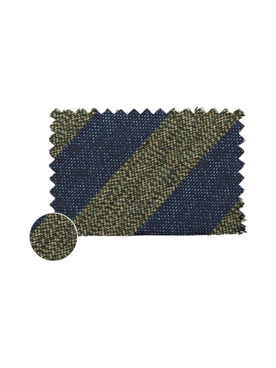 Tommy Hilfiger Tailored - Stripe Cotton Blend -puuvillasekoitesolmio - 0ZU NAVY/GREEN | Stockmann - photo 3