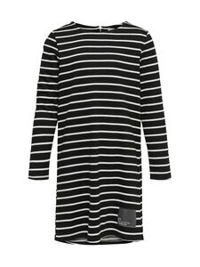 KIDS ONLY - KonKimi-mekko - BLACK STRIPES:CLOUD DANCER + BLACK METALLIC PATCH | Stockmann